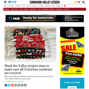 Mask the Valley project aims to make sure all Cowichan residents are covered Cowichan Valley Citizen