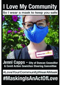 Jenni Capps - City of Duncan Councillor - #MaskingIsAnActOfLove