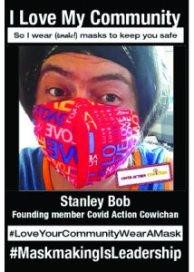 Covid Action Cowichan and the #MaskTheValley campaign and #MaskingIsAnActOfLove memes