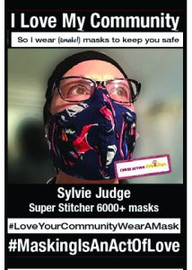 Sylvie Judge Super Stitcher - #MaskingIsAnActOfLove
