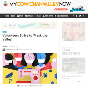 Volunteers Strive to 'Mask the Valley My Cowichan Valley Now