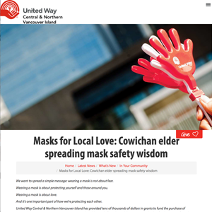 Masks for Local Love – United Way Central & North Vancouver Island